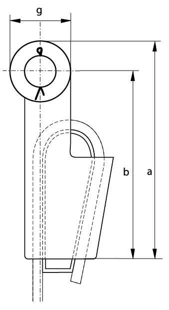 Boite à coin axe goupillé Green Pin G-6413 PROFIL