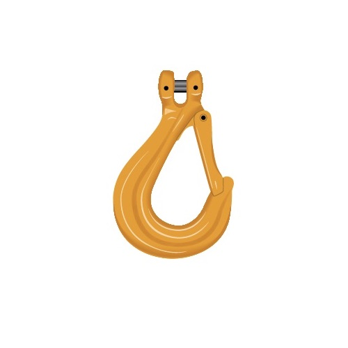 Crochet Simple à Chape G80 EXCEL Coul. Jaune Pour Chaîne Ø 5mm CMU 0.8T En1677-2