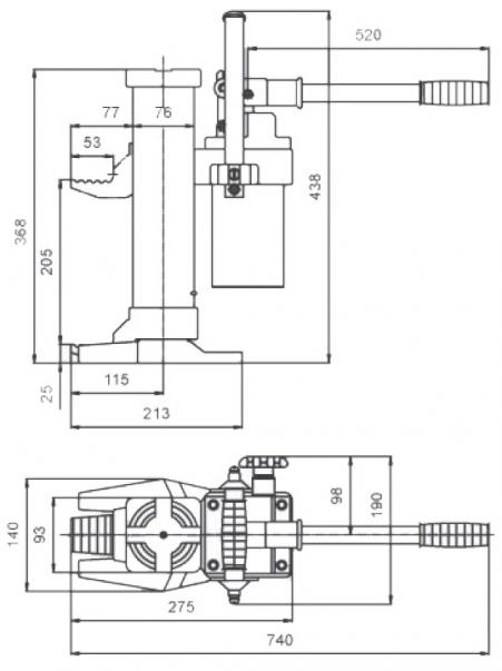 Cric hydraulique à patte - 3