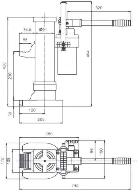 Cric hydraulique à patte - 2