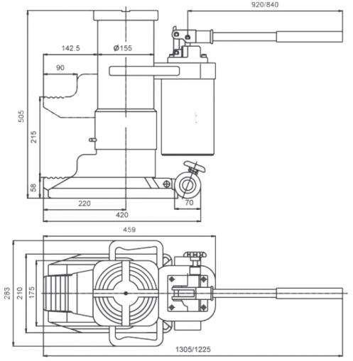Cric hydraulique à patte - 1