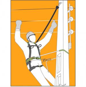 Stop chute - Antichute automatique vertical à câble 7m Utilisation