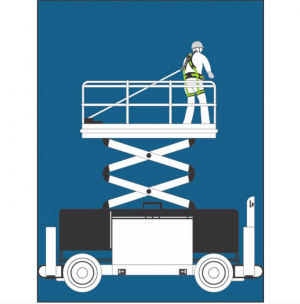 Stop chute - Antichute automatique vertical à sangle 1,75m Spécial Nacelle Plateforme