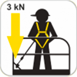 Stop chute - Antichute automatique vertical à sangle 1,75m Spécial Nacelle 3kN