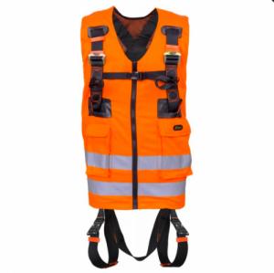 Harnais antichute 2 points d'accrochage avec gilet haute visibilité Orange