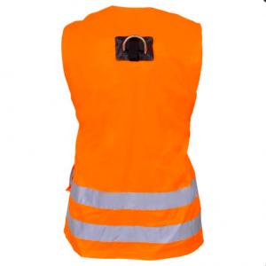 Harnais antichute 2 points d'accrochage avec gilet haute visibilité Orange Dos