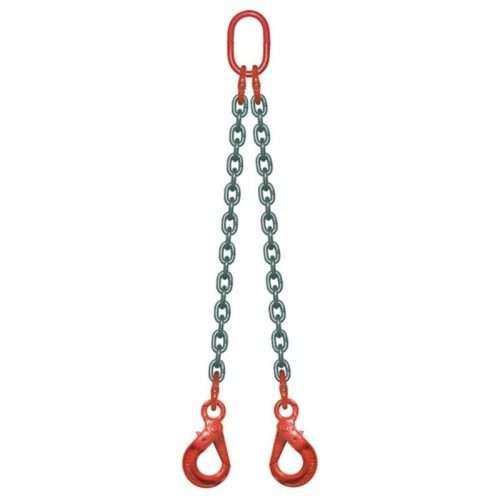 Elingue Chaine 2 Brins Avec Crochets à Verrouillage Automatique