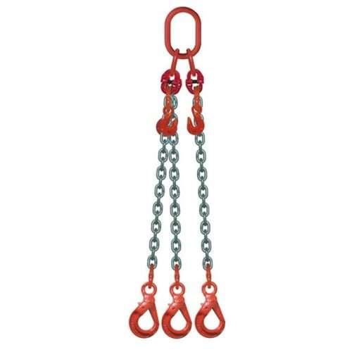 Elingue Chaine 3 Brins Avec Crochets à Verrouillage Automatique + Raccourcisseurs