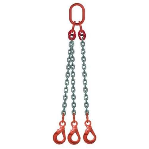 Elingue Chaine 3 Brins Avec Crochets à Verrouillage Automatique