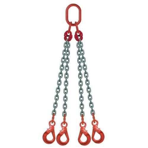 Elingue Chaine 4 Brins Avec Crochets à Verrouillage Automatique